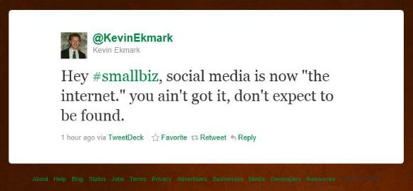 Kevin Ekmark Tweet