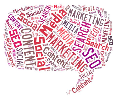 SEO Social Media Content Marketing Cloud