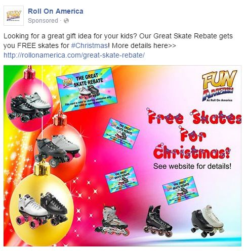 Roller Skating Facebook Ad