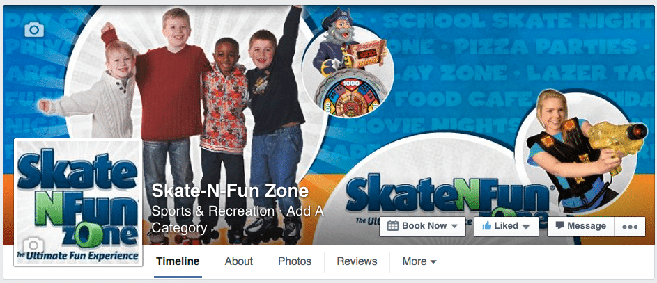 Skate-N-Fun Zone Facebook CTA Button