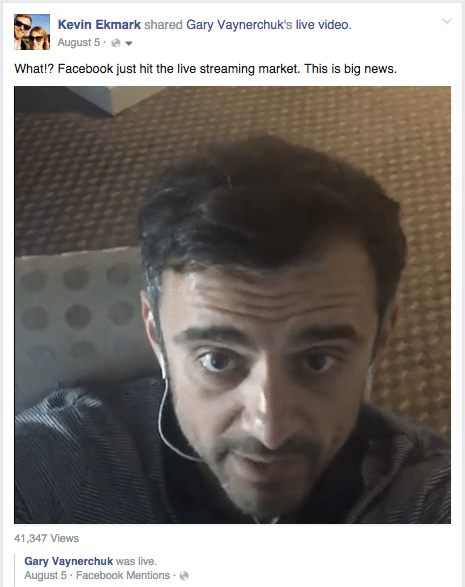 Facebook Live with Gary Vaynerchuk