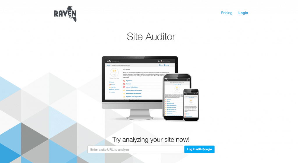 Raven Tools Free Site Auditor - SEO Tool