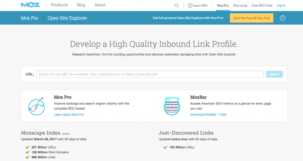 Moz - Open Site Explorer