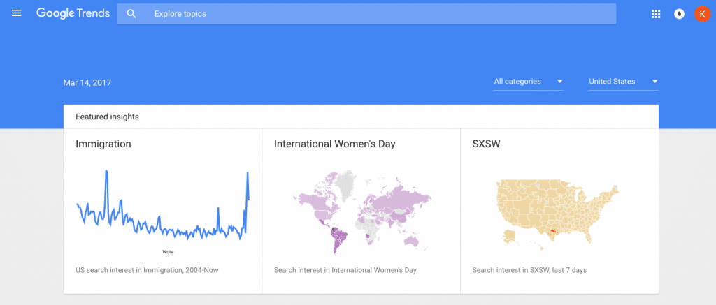 Google Trends - Free Tool