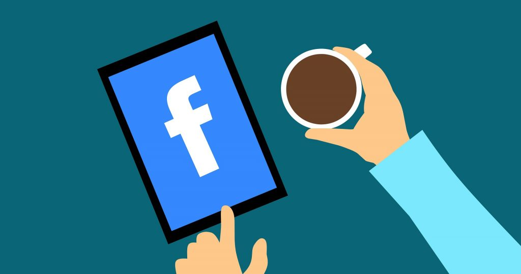 coffee and facebook