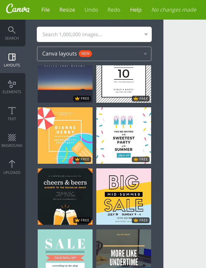 templates on social