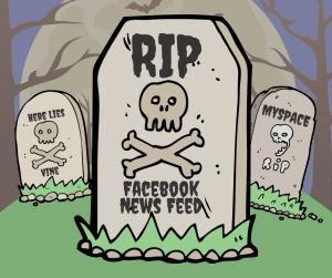 Facebook News Feed Gravestone