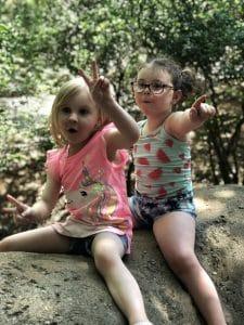 cute kids at zoo
